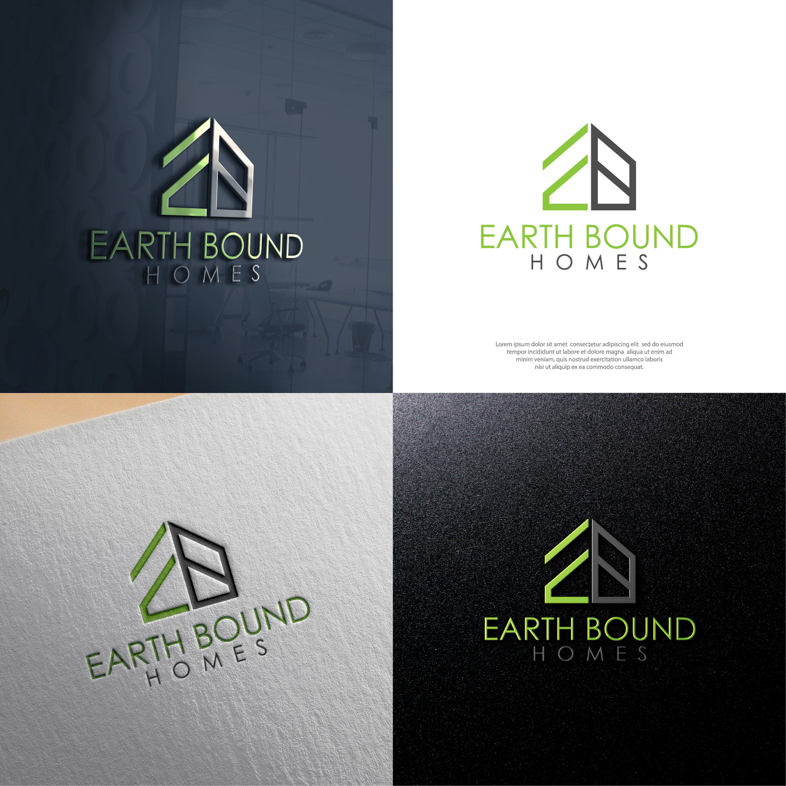 Logo For High End Home Building Company In The Silicon